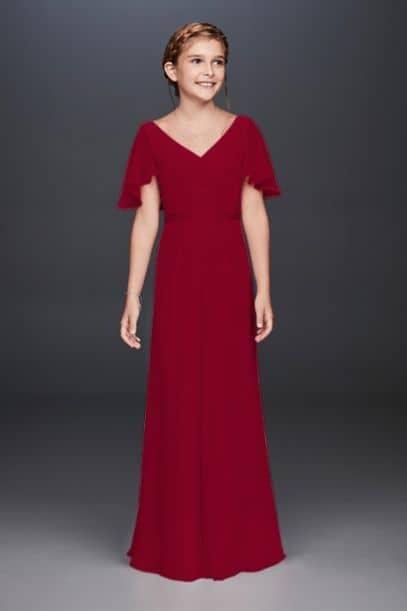 Flutter Crinkle Chiffon Dress