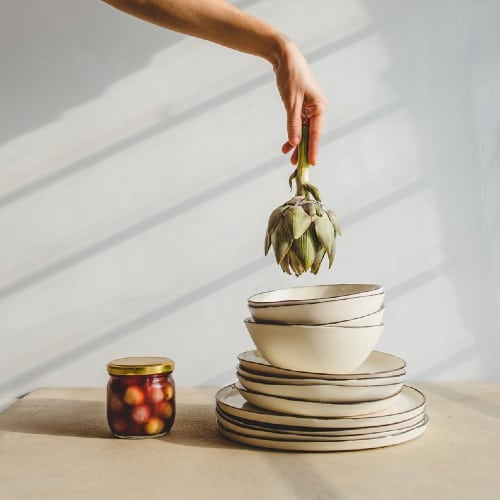 pottery dishware set