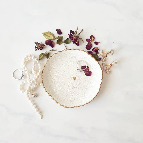 lace ring dish