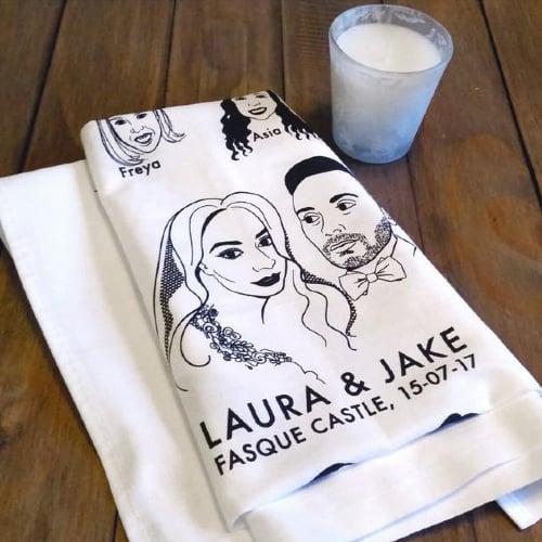 tea towel wedding favor