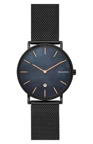 Hagen Slim Mesh Strap Watch