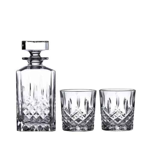 Crystal Old Fashioned Pair with Decanter