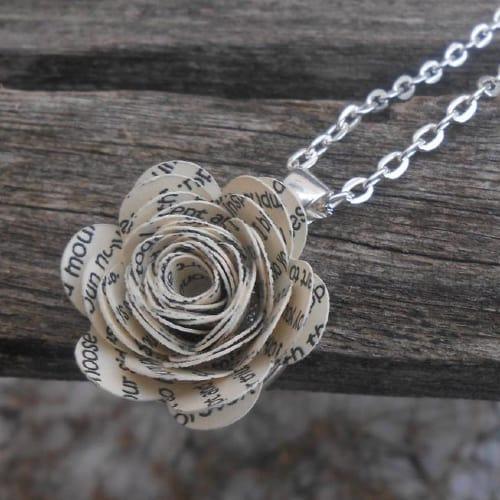wedding vow flower necklace