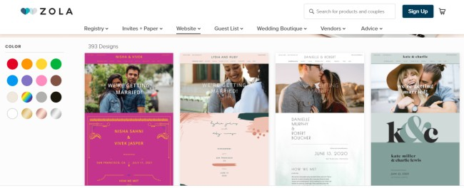 Minted Vs Zola Vs The Knot Wedding Websites Review