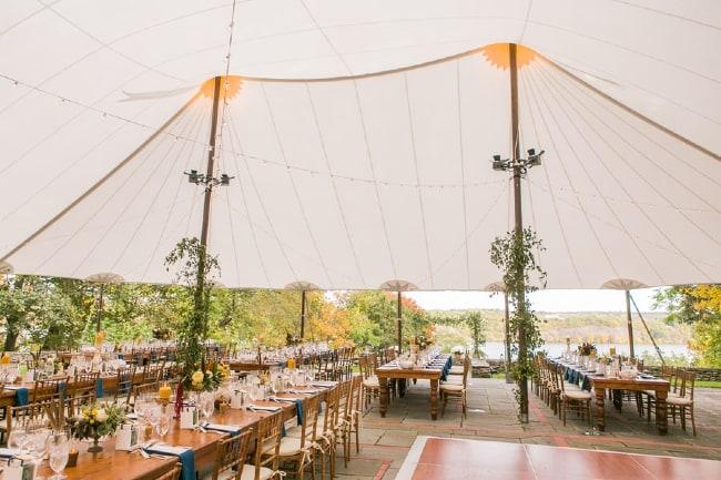wedding reception tent marquee