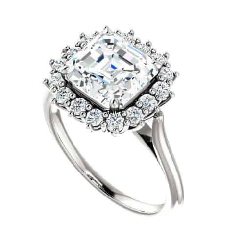 2-Carat Asscher Cut Engagement Ring