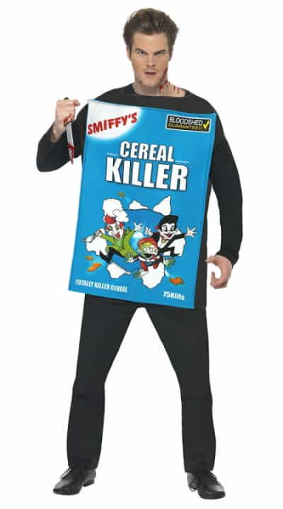 Cereal Box Cereal Killer Halloween Cotume
