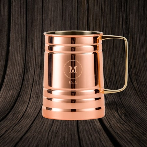 Personalized Copper Beer Stein