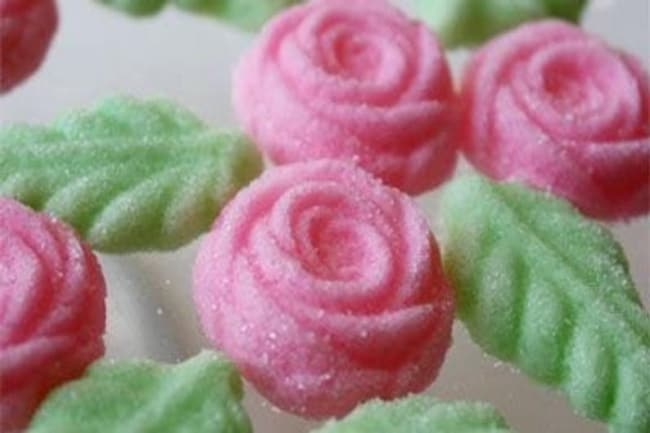 Made-To-Order Cream Cheese Wedding Floral Mints