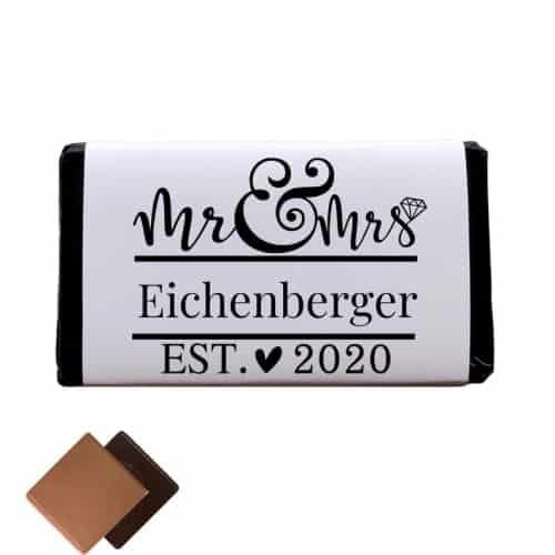 Custom Chocolate Bar Wedding Favor