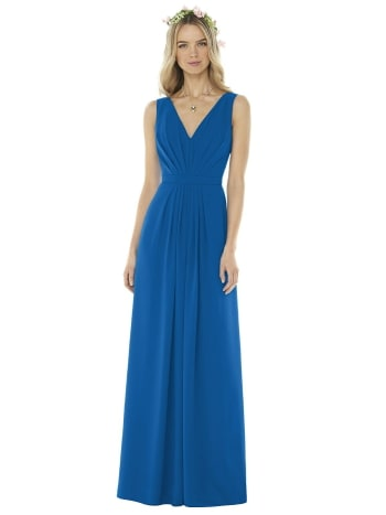 Dessy full length dress blue