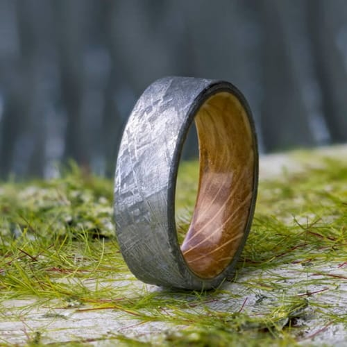 Gibeon Meteorite Wedding Band