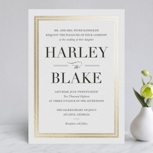 Minted Gilded Frame Invite