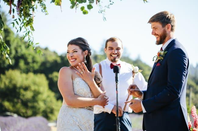 Intimate Lavender Farm Backyard Wedding Feature