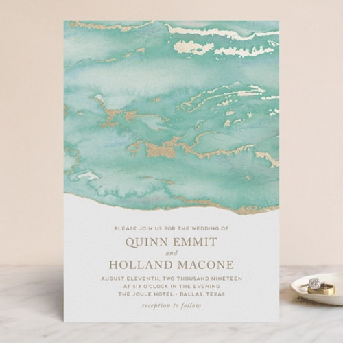 Minted Lustrous Wedding Invite