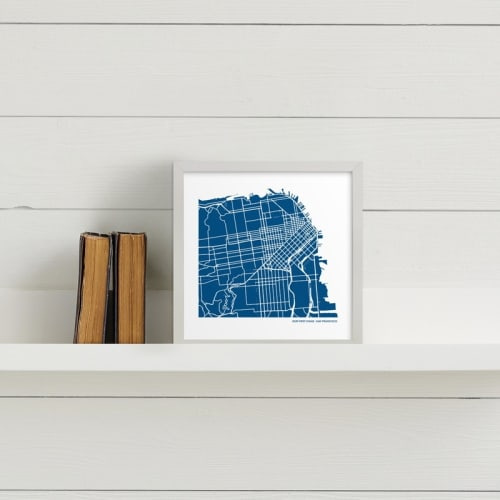 Custom Map Art from Minted