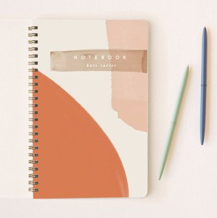 Minted personalized notebook