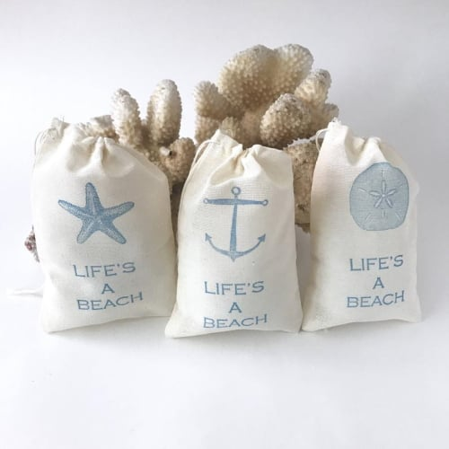 Beach-Themed Favor Bags