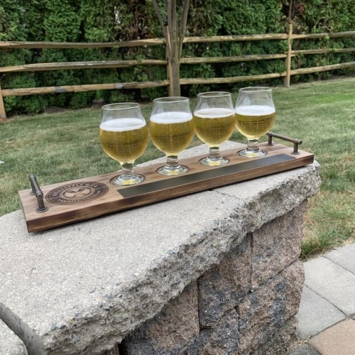 Personalized Beer or Whiskey Flight Set