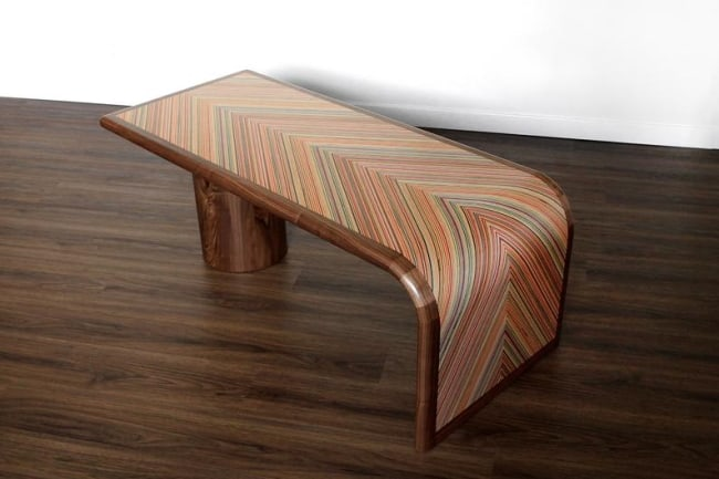 Repurposed Skateboards Coffee Table