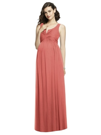 Alfred Sung sleeveless maternity dress