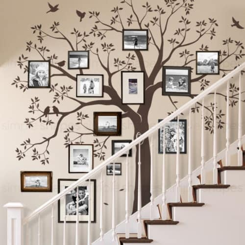 Large Family Tree Wall Decal for Staircases