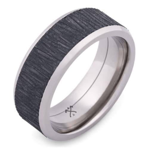 Titanium ring With Black Zirconium Inlay