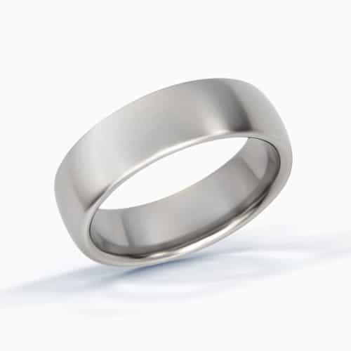Titanium Wedding Ring with a Domed Profile