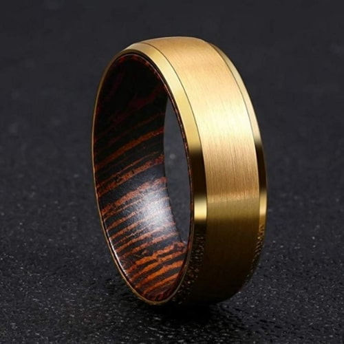 Wenge Wood Wedding Band
