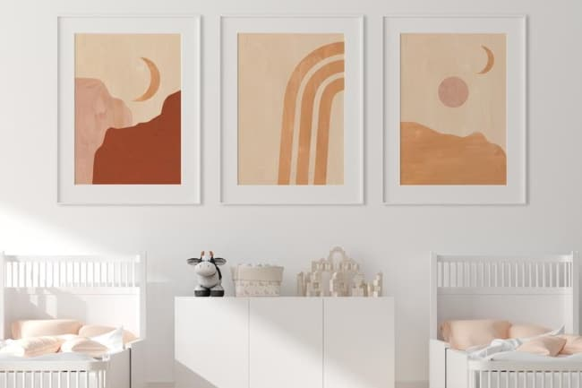nursery wall art themed