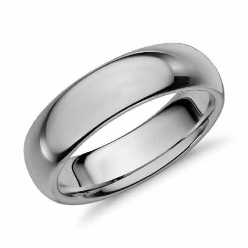 Comfort-Fit Wedding Ring in Classic Gray Tungsten Carbide (6mm)