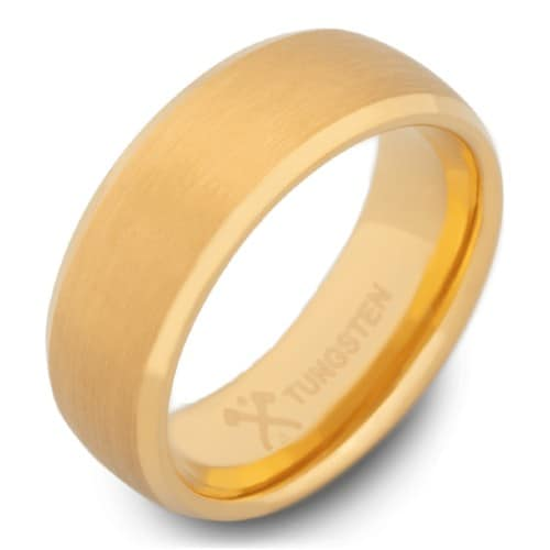 The CEO - Men's Gold Tungsten Wedding Ring