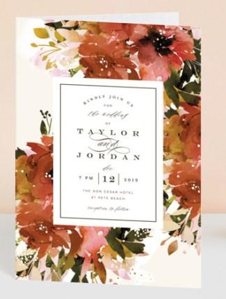 eden floral wedding invite
