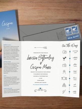 Gatefold Wedding invite
