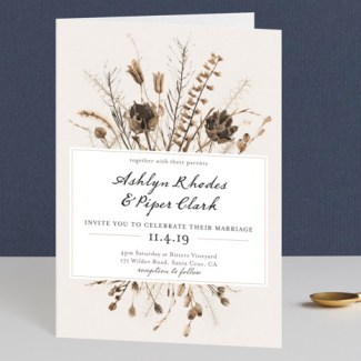Gone to Seed Wedding Invite
