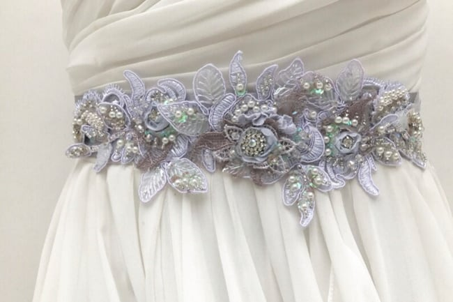 Lavender Colored Bridal Sash