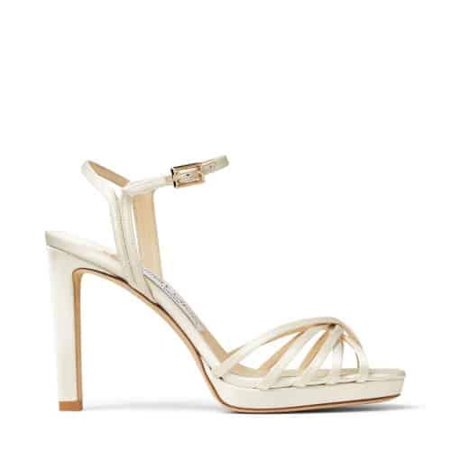 Lilah 100 - Ivory Satin Platform Sandals