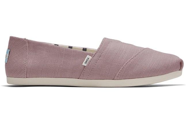 toms mauve alpargata shoe