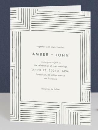 pattern play wedding invite