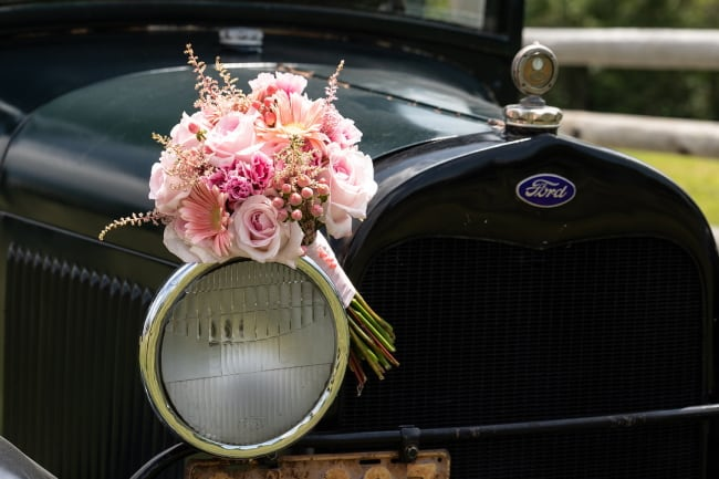 Styled Luxury Pink Farmhouse Wedding Feature