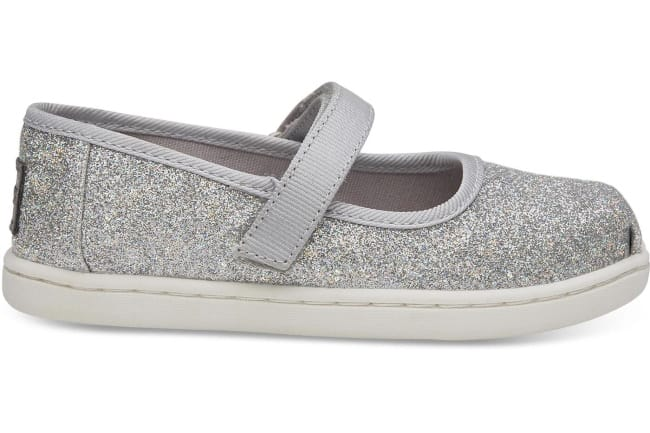 kids silver mary jane toms shoes