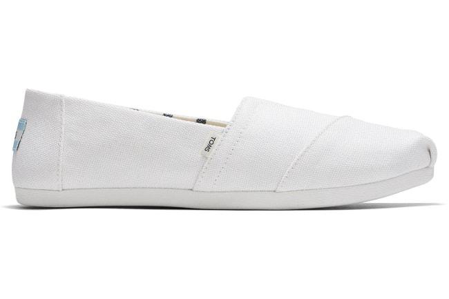 toms white alpargata shoe