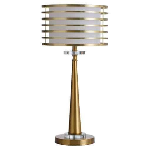 art deco orbital table lamp