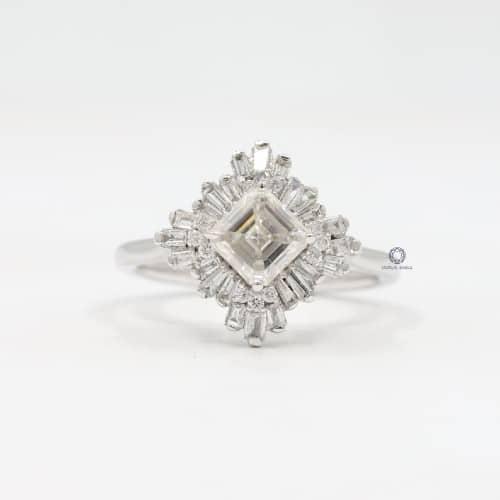 Asscher-Cut Simulated Diamond Ring