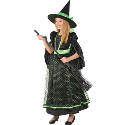 black green witch costume