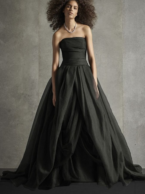 vera wang black wedding dress