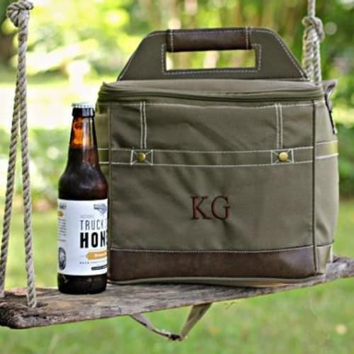 Personalized Beer Cooler Bag With Bottle Opener