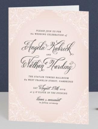elegant lace wedding invite