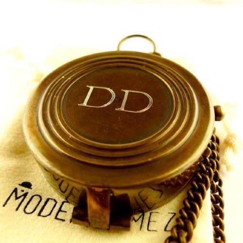 brass engraved compass
