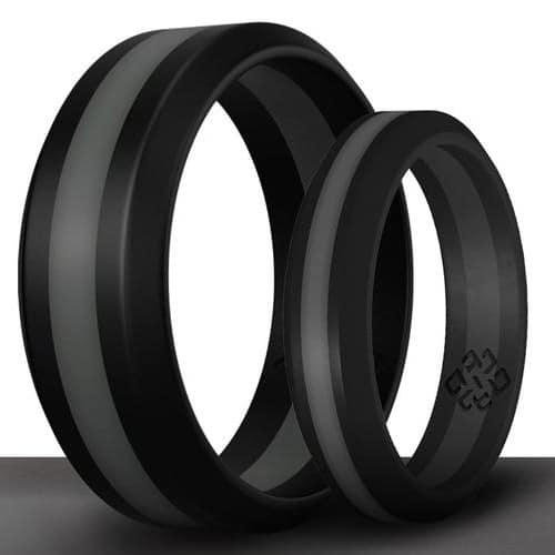 his and hers matching silicone rings
